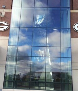 50 ft. Lombardi Trophy set up