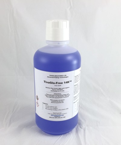 14K TivaGlo-Free QT Non Cyanide Gold Plating Solution