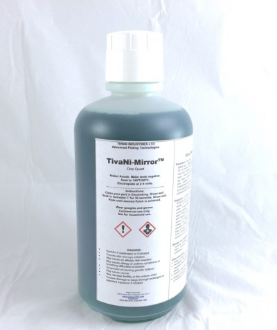 Bright and shiny nickel plating solution.