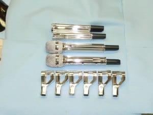 American Idol chrome microphones