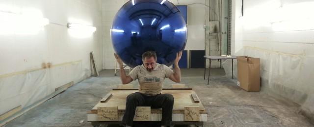 Blue Chrome Sphere for Lady Gaga