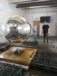 Lady Gaga's Art Pop Chrome Sphere before the blue tint is applied