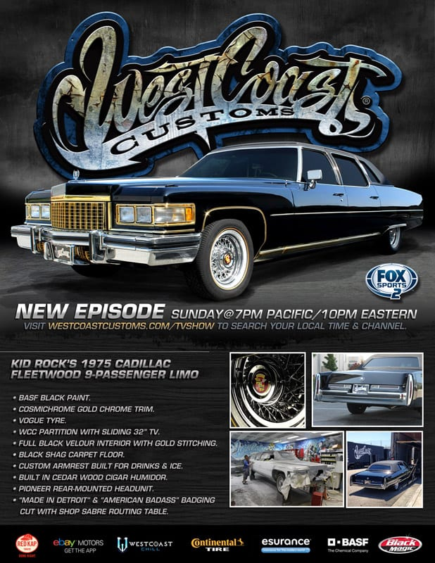 Gold Touch Inc west coast customs kid rock cadillac-Gold