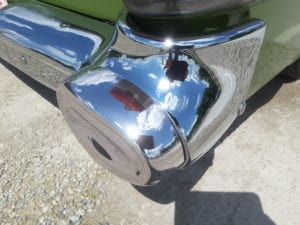 Completed chrome restoration on a 57 Pontiac using Cosmichrome