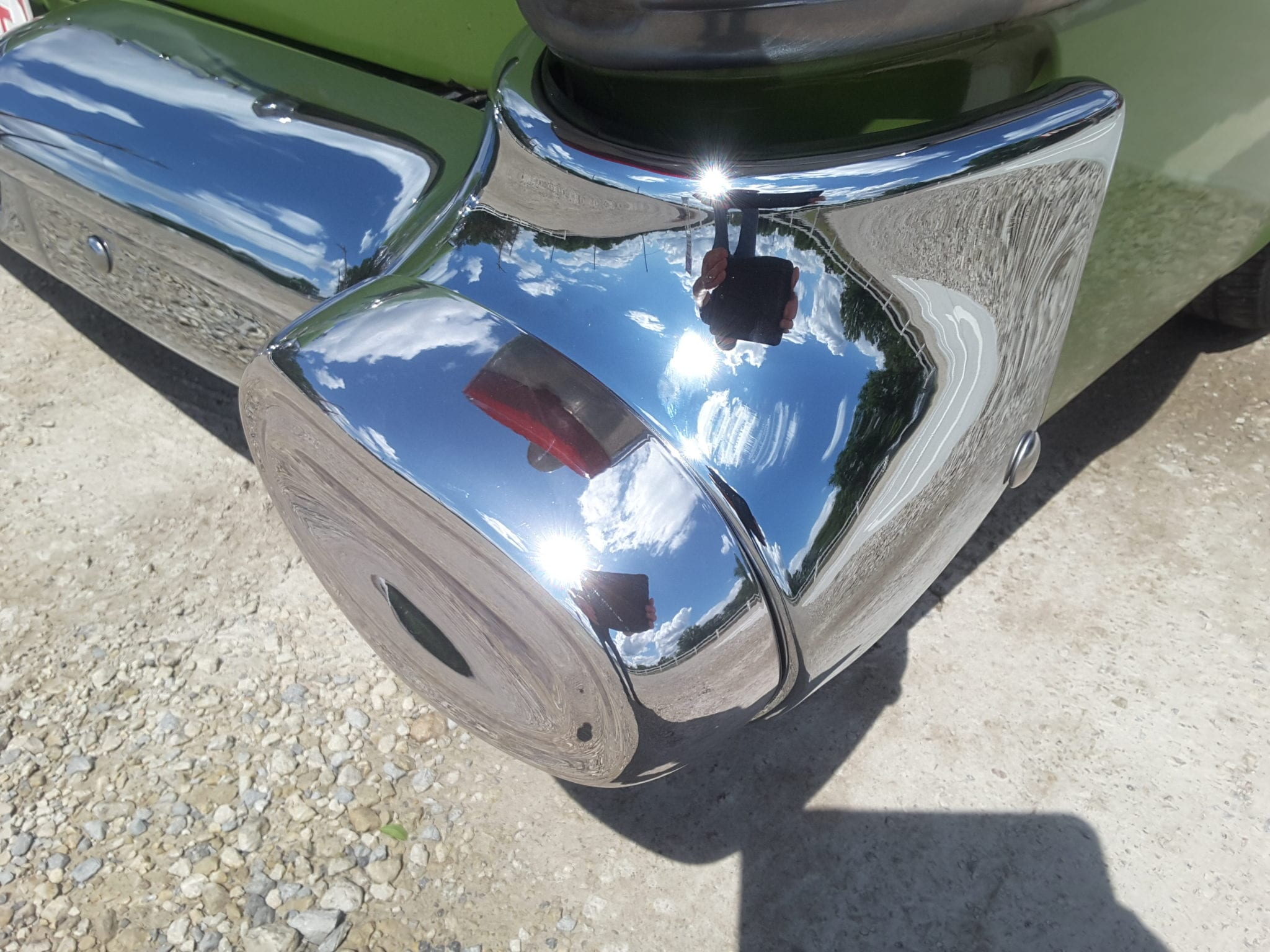 Gold Touch Inc Chrome Bumper Restoration Project - Gold