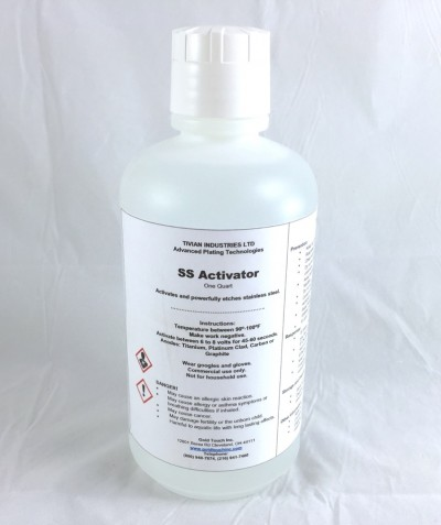 Activator SS QT For plating over stainless steel.