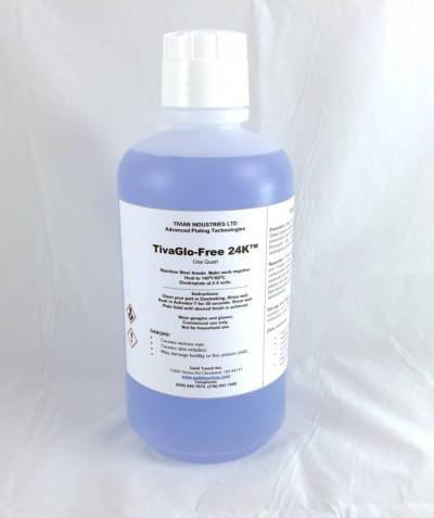 TivaGlo-Free 24K QT Non cyanide 24k gold plating solution