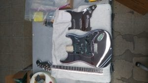 Cosmichrome Guitars ready for assembly