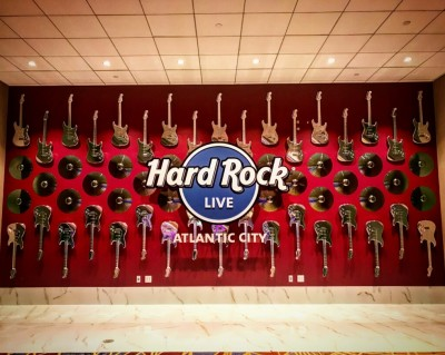 Cosmichrome guitars at the Hard Rock Casino in Atlantic City